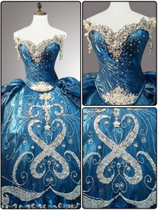 New Style Sweetheart Beading Teal Quinceanera Dress