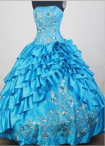 Unique Ball Gown Strapless Floor-length Quinceanera Dress