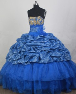 Popular Ball Gown Strapless Loor-length Quinceanera Dress