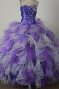 Low Price Ball Gown Strapless Floor-length Colorful Quinceanera Dress