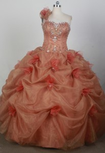 Romantic Ball Gown Strapless Floor-length Pink Quinceanera Dress