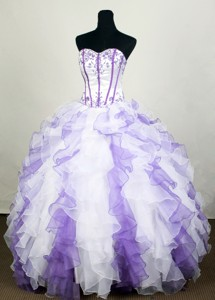 Romantic Ball Gown Sweetheart Floor-length Quinceanera Dress