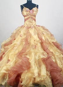 Pretty Ball Gown Straps Floor-length Quinceanera Dress