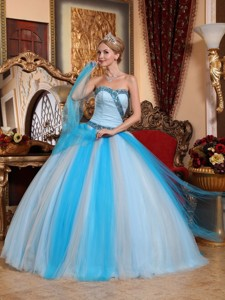 Multi-color Ball Gown Sweetheart Floor-length Tulle Beading Quinceanera Dress