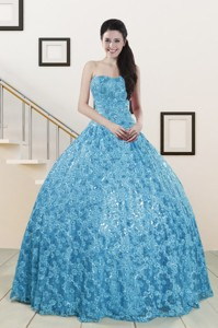 Beautiful Sweetheart Ball Gown Quinceanera Dress In Baby Blue