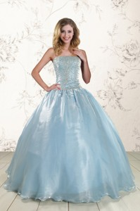 New Style Beading Sweet 15 Dress With Strapless