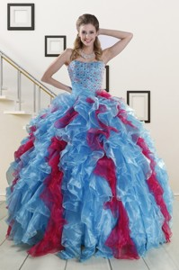 Fashionable Beading Quinceanera Dress In Multi-color
