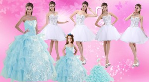 Strapless Ruffles Elegant Quinceanera Dress and Pretty Sweetheart Beading Prom Dress and Ruffles Bab