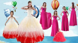 Beading Multi Color Quinceanera Gown And Hot Pink Sweetheart Long Prom Dress And Halter Top Multi