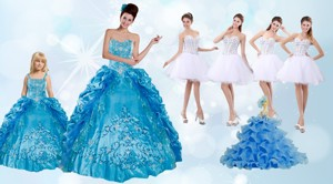 Beading And Ruffles Quinceanera Dress And Rhinestones White Short Dama Dress And Spaghetti Straps