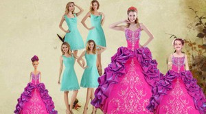 Multi Color Spaghetti Straps Ruffles Quinceanera Dress And Square Knee Length Dama Dress And Beaut