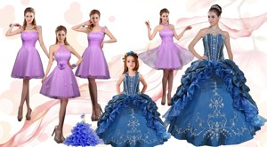 Ruffles And Beading Sweetheart Quinceanera Dress And Lilac Short Prom Dress And Cute Halter Top Li