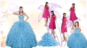 Gorgeous Ruffles And Beading Quinceanera Dress And Hot Pink Short Dama Dress And Cute Halter