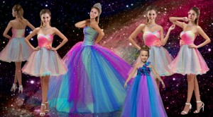 Perfect Beaded Multi Color Quinceanera Dress And Hand Made Flower Dama Dress And Cute One Should