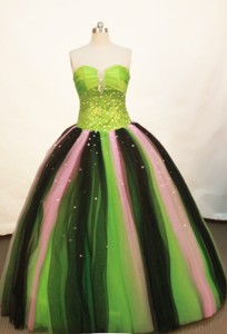 Wonderful Ball gown Strapless Floor-length Green Quinceanera Dress