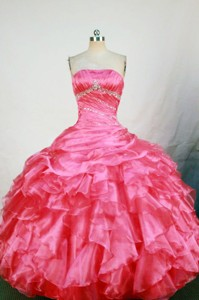 Cute Ball Gown Strapless Floor-length Quinceanera Dress