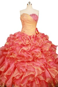 Luxurious Ball Gown Sweetheart-neck Floor-length Beading Quinceanera Dress