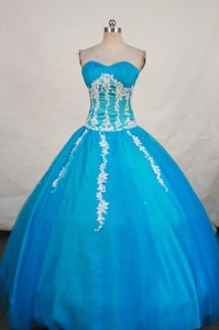 Beautiful Ball Gown Sweetheart-neck Floor-length Baby Blue Quinceanera Dress Style Fa-w-411