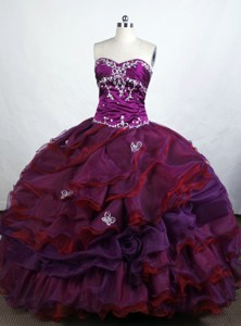 Beautiful Ball Gown Sweetheart-neck Floor-length Organza Quinceanera Dress