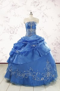 Exclusive Royal Blue Quinceanera Dress With Appliques