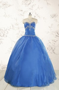 Cheap Beading Quinceanera Dress In Royal Blue