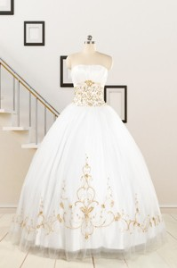 Spring Sweet Beading White Quinceanera Dress