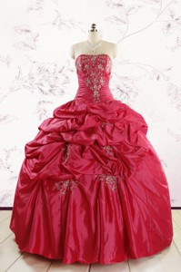 New Style Strapless Appliques Quinceanera Dress
