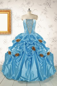 New Style Aqua Blue Quinceanera Dress With Beading