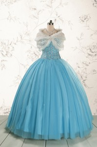 Ball Gown Baby Blue Quinceanera Dress With Sweetheart