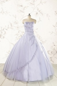 Brand New Lavender Quinceanera Dress With Appliques And Ruffles