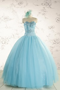 Elegant Beading Quinceanera Dress In Baby Blue