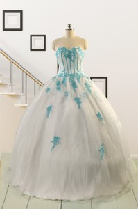 Affordable White Quinceanera Dress With Appliques