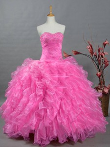 Beautiful Quinceanera Dress With Sweetheart In Organza