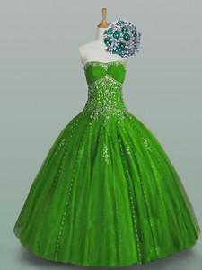 Elegant Strapless Quinceanera Dress With Beading And Appliques