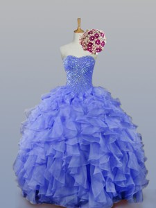 Sweetheart Beaded Quinceanera Dress With Ruffles