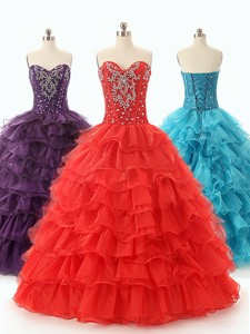 Beautiful Ball Gown Beading Quinceanera Dress With Sweetheart