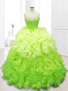 New Arrivals Ball Gown Sweet 16 Dress With Beading And Ruffles