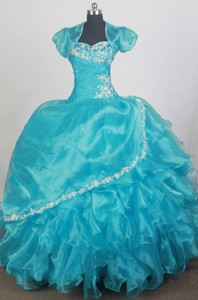 Popular Ball Gown Sweetheart Floor-length Qunceanera Dress