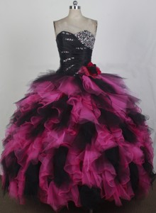 Exquisite Ball Gown Sweetheart Neck Floor-length Quinceanera Dress