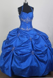 New Ball Gown Halter Top Floor-length Quinceanera Dress