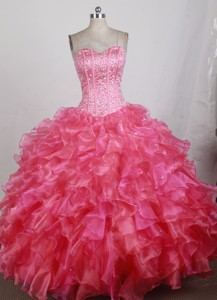 Unique Ball Gown Sweetheart Floor-length Quinceanera Dress