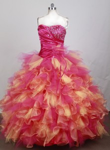 The Most Popular Ball Gown Strapless Floor-length Colorful Quinceanera Dress