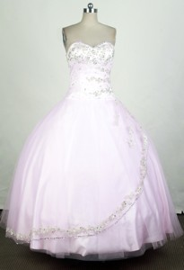 Cute Ball Gown Sweetheart Floor-length Pink Quinceanera Dress