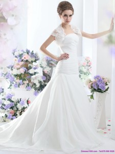 Fashionable A Line Strapless Wedding Dress