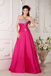 2013 Hot Pink Prom / Evening Dress A-line Sweetheart