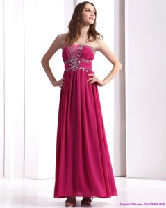 Sophisticated Strapless Floor Length Prom Dress With Beading