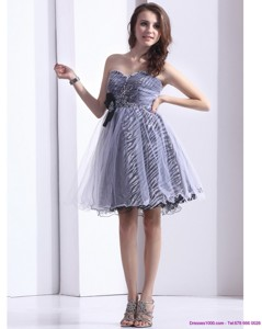 New Style Sweetheart Leopard Prom Dress With Beading