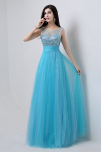 Best Selling Sweetheart Tulle Prom Dress With Beading