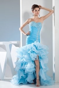 Mermaid Sweetheart Beading And Ruffles Prom Dress