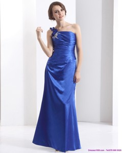 New Style One Shoulder Prom Dress With Ruching And Beading